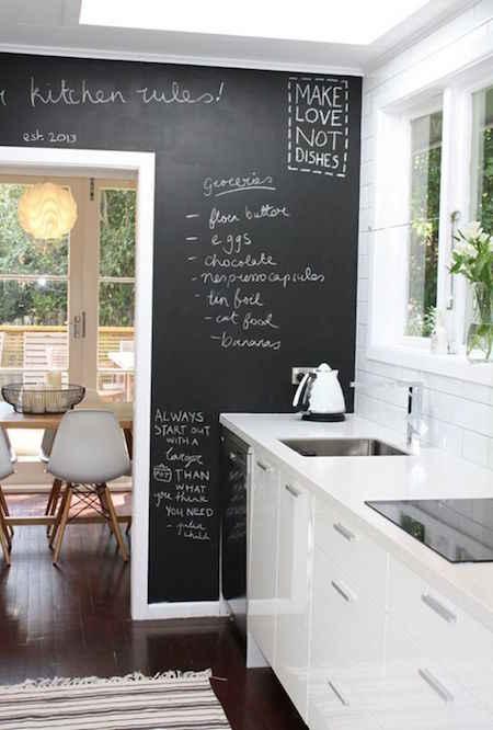 8 super astuces de rangements pour votre cuisine for Tableau noir pour cuisine