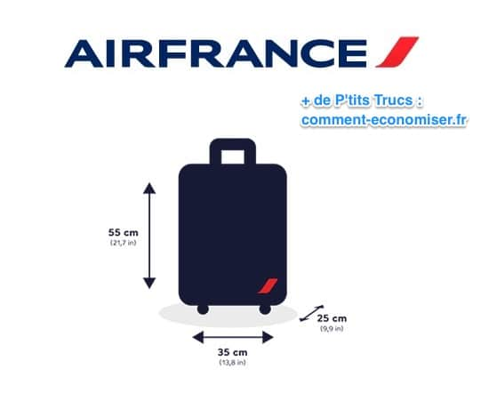 Dimensions bagage à main air france sans frais