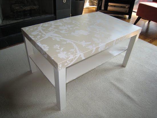 Comment facilement transformer une table ikea en meuble chic - Lack tavolino ikea ...