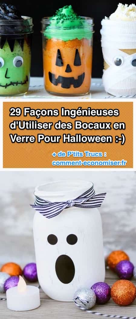 29 fa ons ing nieuses d 39 utiliser des bocaux en verre pour halloween. Black Bedroom Furniture Sets. Home Design Ideas