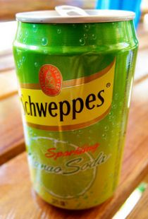 Canette schweppes