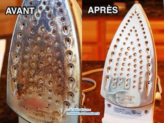 40 astuces pour que votre maison soit plus propre que jamais - Astuce pour nettoyer semelle fer a repasser ...