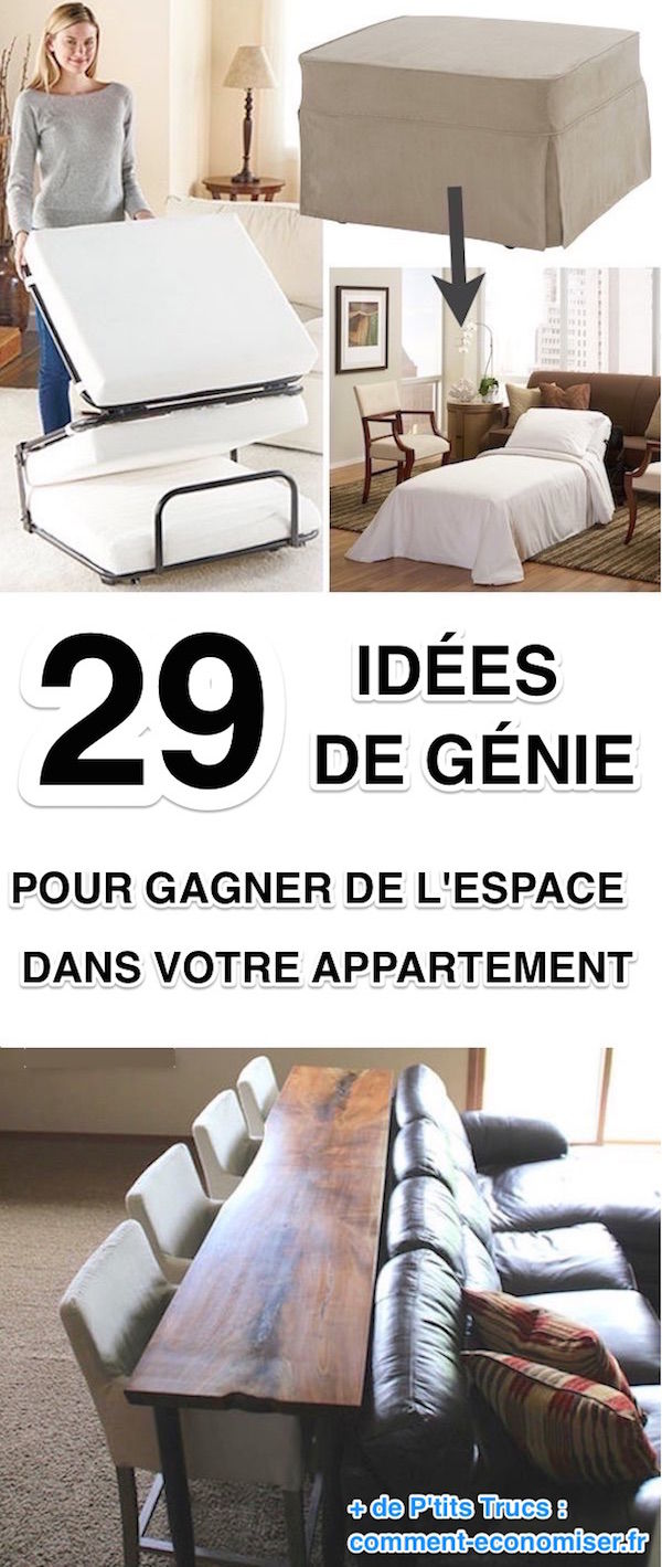 29 id es de g nie pour gagner de la place dans votre appartement. Black Bedroom Furniture Sets. Home Design Ideas