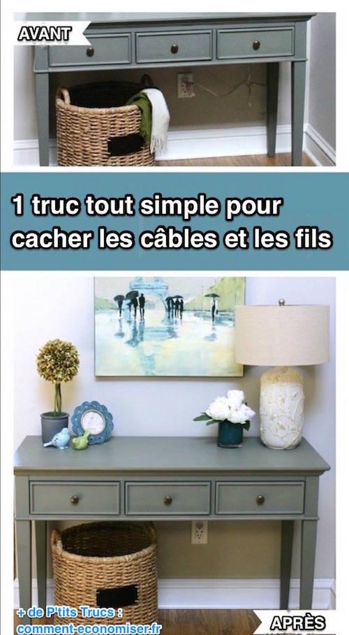 1 truc tout simple pour cacher les fils et les c bles - Tout pour la maison discount ...