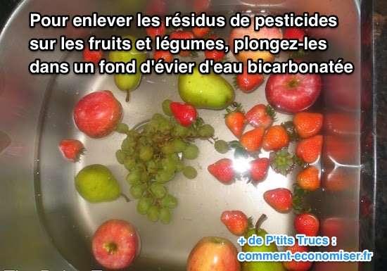 comment enlever les pesticides des fruits et l gumes facilement. Black Bedroom Furniture Sets. Home Design Ideas