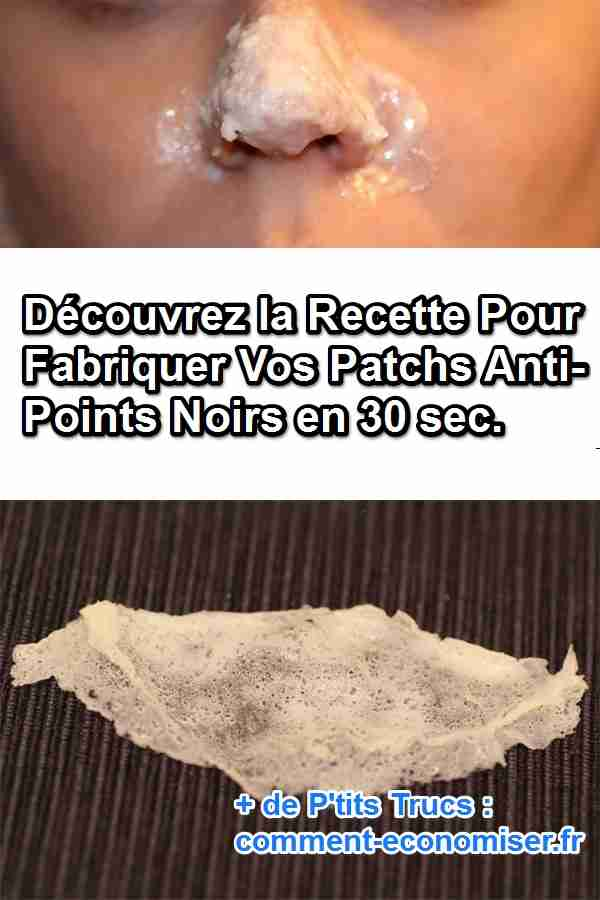 fabriquez vos patchs anti points noirs en 30 secondes. Black Bedroom Furniture Sets. Home Design Ideas