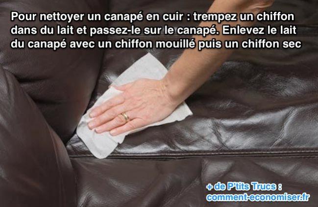 l 39 astuce pour nettoyer facilement un canap en cuir. Black Bedroom Furniture Sets. Home Design Ideas