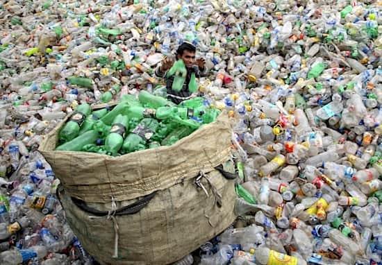 Décharge de plastique en Inde