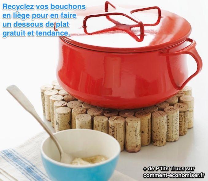17 utilisations surprenantes des bouchons en li ge - Dessous de plat en bouchon ...
