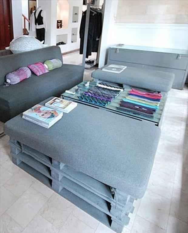 24 utilisations incroyables de vieilles palettes en bois - Muebles hechos con estibas ...