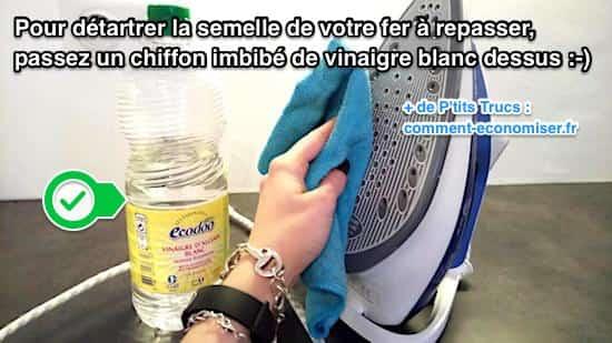 Fer repasser entartr utilisez du vinaigre blanc pour for Nettoyer sol avec vinaigre blanc