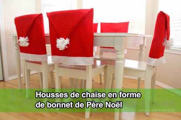 Housse Dossier Chaise Decoration Pere Noel