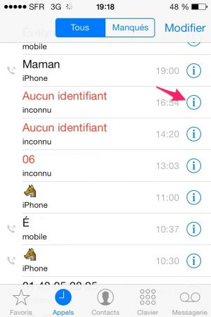 Bloquer Contact Iphone
