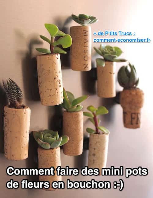 comment faire des mini pots de fleurs en bouchons de. Black Bedroom Furniture Sets. Home Design Ideas