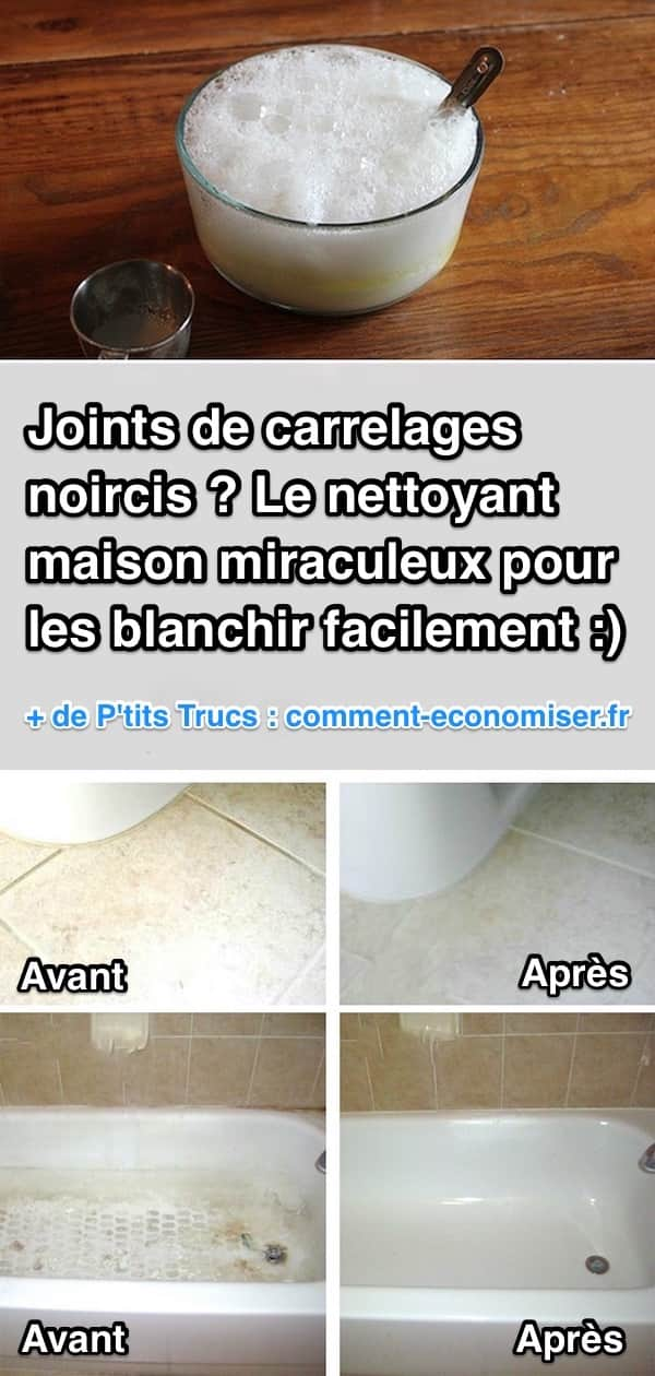 joints de carrelages noircis le nettoyant miraculeux pour les blanchir facilement. Black Bedroom Furniture Sets. Home Design Ideas