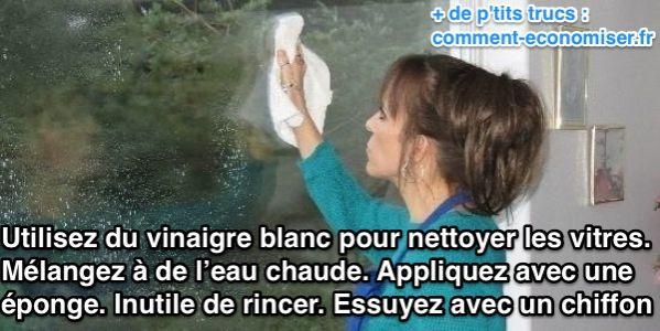 """"""" Trucs et Astuces en tout genre """" Maria-Lys Nettoyer-vitres-avec-vinaigre-blanc"""