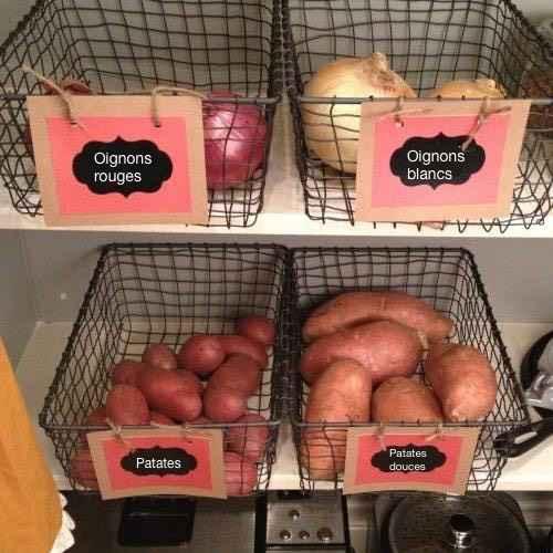 10 id es g niales et pas ch res pour mieux organiser votre cuisine - Comment faire un garde manger ...