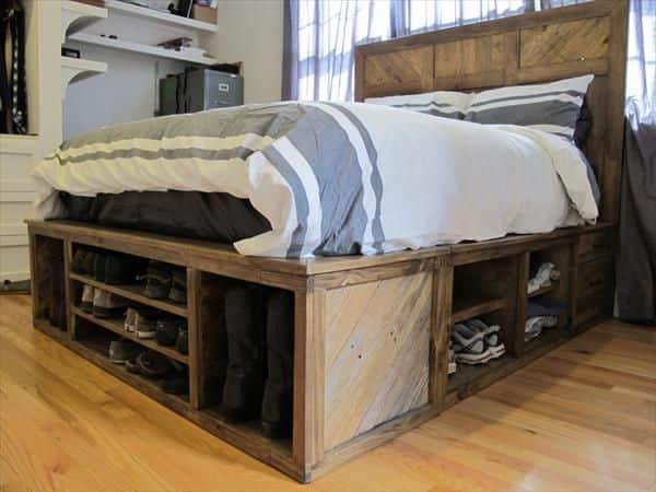 Pourquoi acheter un lit quand on peut utiliser des for Queen pellet