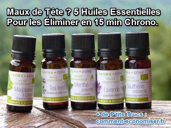maux de t te 5 huiles essentielles pour les liminer en 15 min chrono. Black Bedroom Furniture Sets. Home Design Ideas
