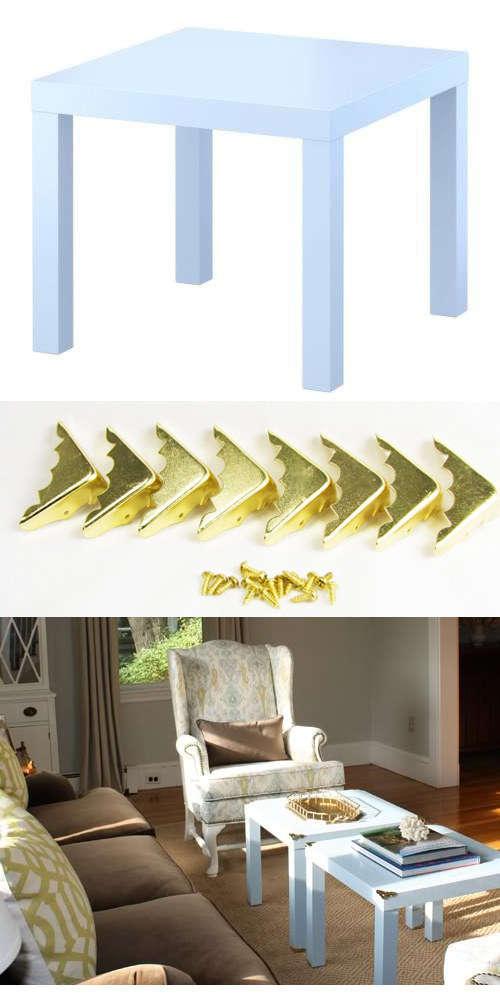 19 astuces pour rendre vos meubles ikea chics tendance - Coin de table ikea ...