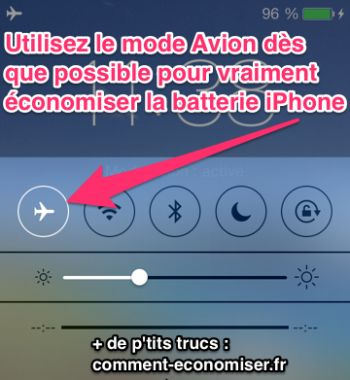 Utiliser le mode avion dès que possible